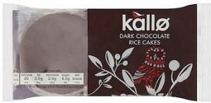 Kallo Rice Cakes Dark Chocolate Round  100g