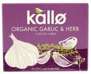 Kallo Stock Cubes Garlic & Herb Organic  66g