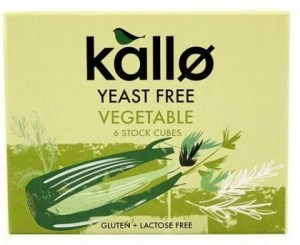 Kallo Stock Cubes Yeast Free Vegetable G/F 66g