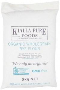 Kialla Organic Wholegrain Rye Flour 5Kg
