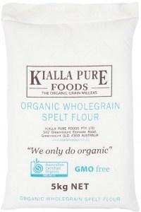 Kialla Organic Wholegrain Spelt Flour 5Kg