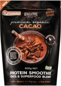 Kialla Pure Organics Organic Protein Smoothie Cacao 600g