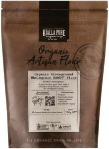 Kialla Pure Organics Organic Stoneground Wholegrain KAMUT Flour 700g