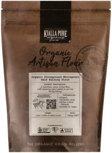 Kialla Pure Organics Organic Stoneground Wholegrain Self Raising Flour 700g