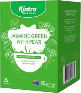 Kintra Foods Jasmin Green & Pear 25Teabags