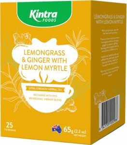 Kintra Foods Lemongrass, Ginger & Lemon Myrtle 25Teabags