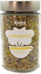 Kintra Foods Organic Loose Leaf Chamomile Tea Glass Jar 40g