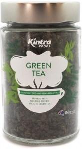 Kintra Foods Organic Loose leaf Green Tea Glass Jar 150g