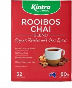 Kintra Foods Organic Rooibos Chai 32 Teabags