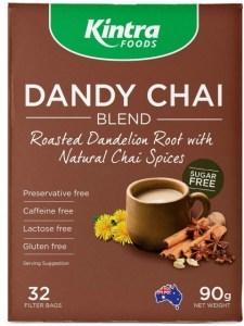 Kintra Foods Roasted Dandelion Chai 32 Teabags