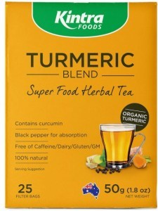 Kintra Foods Turmeric Blend Super Food Herbal Tea 25Teabags