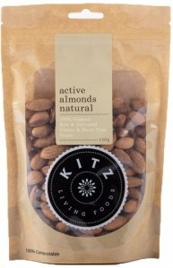 Kitz Living Foods Organic Active Almonds Natural  150g