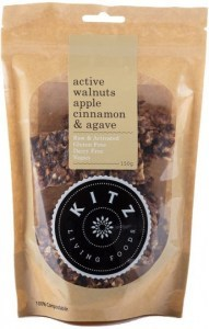 Kitz Living Foods Organic Active Walnuts Apple Cinnamon & Agave  150g
