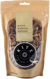 Kitz Living Foods Organic Active Walnuts Natural  200g