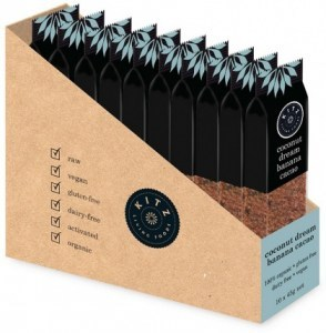 Kitz Living Foods Organic Coconut Dream Banana Cacao Bars G/F 10x45g
