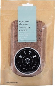 Kitz Living Foods Organic Coconut Dream Banana Cacao  150g