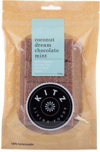 Kitz Living Foods Organic Coconut Dream Chocolate Mint  150g