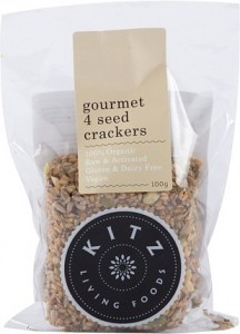 Kitz Living Foods Organic Gourmet 4 Seed Crackers  100g