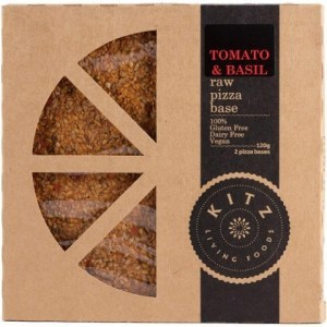 Kitz Living Foods Organic Tomato & Basil Raw Pizza Base  120g