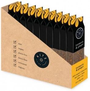 Kitz Living Foods Organic Turmeric & Ginger Bars  10x45g