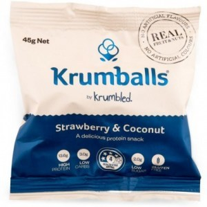 Krumballs Strawberry & Coconut G/F 12x45g