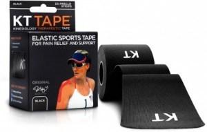 """KT Tape Cotton 20 Precut 10"""" Strips Black"""