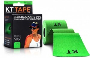 "KT Tape Cotton 20 Precut 10"" Strips Lime"