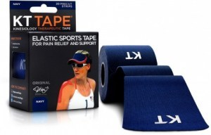 "KT Tape Cotton 20 Precut 10"" Strips Navy"