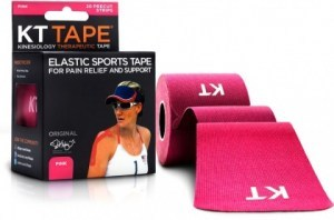 "KT Tape Cotton 20 Precut 10"" Strips Pink"
