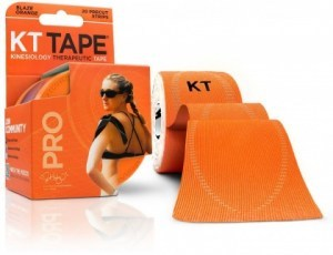 "KT Tape Pro 20 Precut 10"" Strips Blaze Orange"