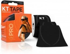 "KT Tape Pro 20 Precut 10"" Strips Jet Black"