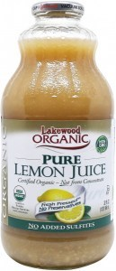 Lakewood Organic Lemon Juice 946ml