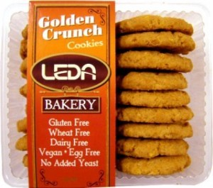 Leda Golden Crunch Gluten Free Cookies 250gm