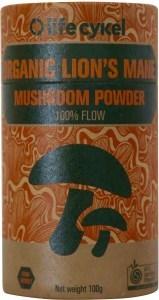Life Cykel Organic Lions Mane Mushroom Powder 100g