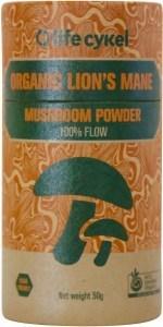 Life Cykel Organic Lions Mane Mushroom Powder 50g