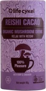 Life Cykel Reishi Cacao Organic Mushroom Drink 40g
