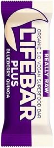 Lifebar Organic Plus Blueberry Quinoa  15x47g