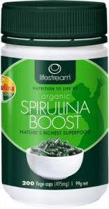 Lifestream Organic Spirulina Boost (495mg) Capsules 200 caps