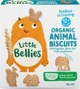 Little Bellies Organic Animal Biscuits 130g