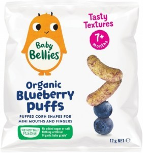 Little Bellies Organic Baby Puffs Bursting Blueberry Finger Food (7+ months) 12g