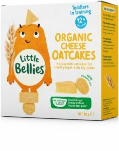 Little Bellies Organic Cheese Oatcakes 80g