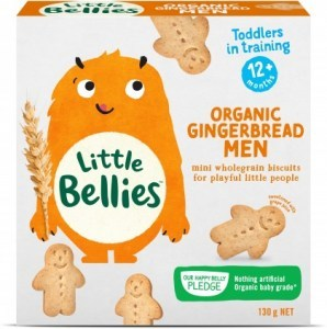 Little Bellies Organic Gingerbread Men 130g