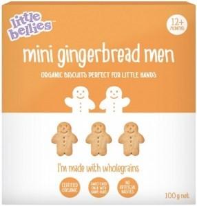 Little Bellies Organic Mini Gingerbread Man Biscuits (12+ months) 100g
