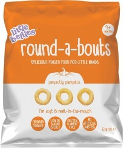 Little Bellies Organic Round-a-Bouts Perfectly Pumpkin Finger Food  (9+months) 12g