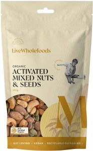 Live Wholefoods Organic Activated Mixed Nuts & Seeds 300g