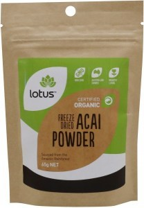 Lotus Acai Powder Freeze Dried Organic  65g