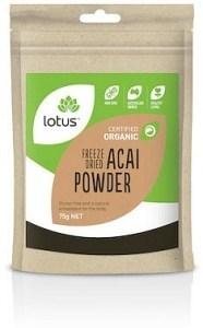 Lotus Acai Powder Freeze Dried Organic  75g