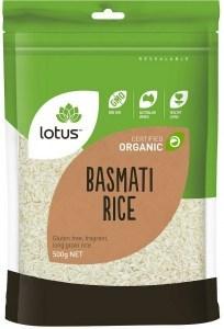 Lotus Organic Basmati Rice  500gm