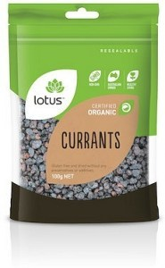 Lotus Organic Currants  100g