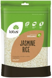 Lotus Organic Jasmine Rice 500g